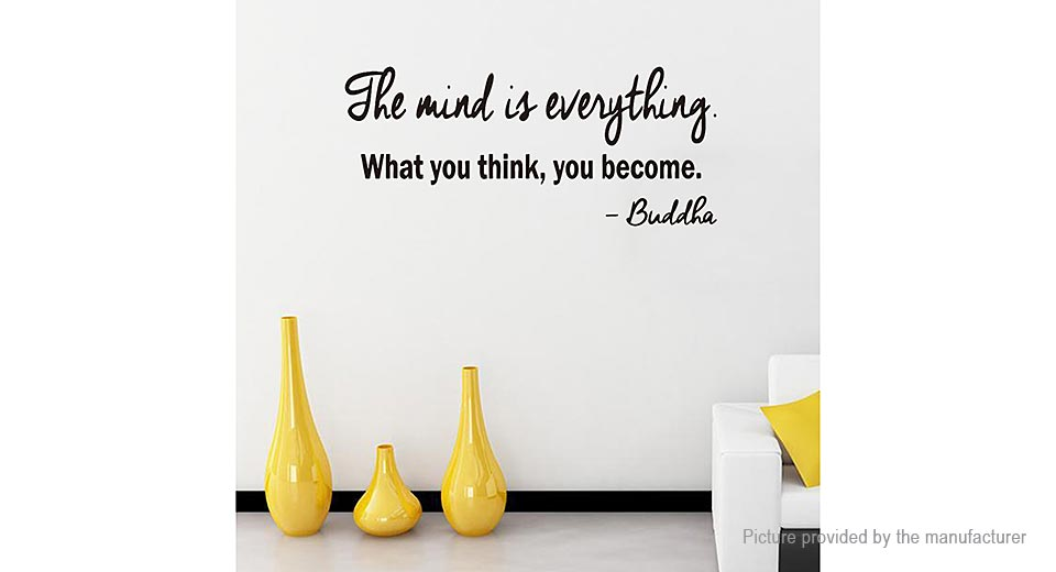 The Mind is Everything Styled Removable Wall Sticker Home Decor