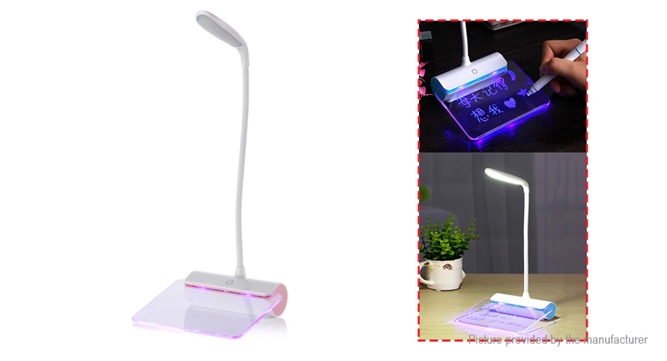 USB Rechargeable LED Desk Lamp w/ Message Board