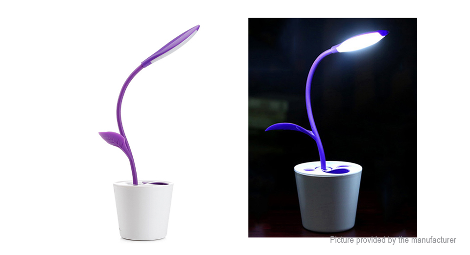 Plant Styled USB Rechargeable LED Desk Lamp Pencil Holder
