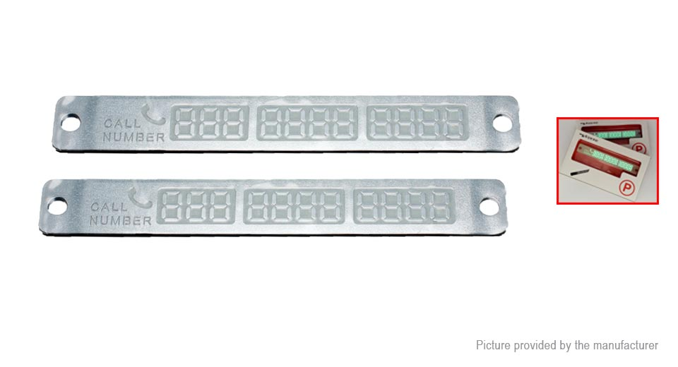 Glow-in-the-Dark Car Parking Notification Telephone Number Plate (2-Pack)