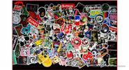 Buy Car Motorcycle Bicycle Skateboard Laptop Luggage Decal Stickers (100 Pieces) Style D, 100 Pieces