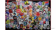 Buy Car Motorcycle Bicycle Skateboard Laptop Luggage Decal Stickers (100 Pieces) Style E, 100 Pieces