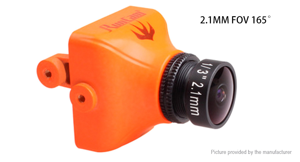 Authentic RunCam Swift 2 FPV Camera for R/C Models (PAL, 2.1mm Lens) Swift 2 (PAL, 2.1mm Lens), Orange