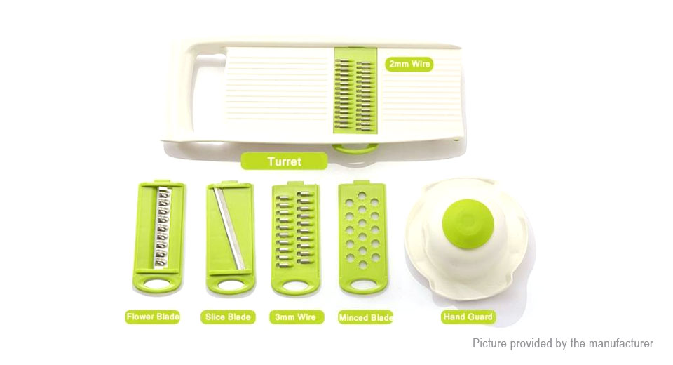 Multi-functional Fruit Vegetable Shredder Slicer Manual Potato Cutter (7-Piece Set)