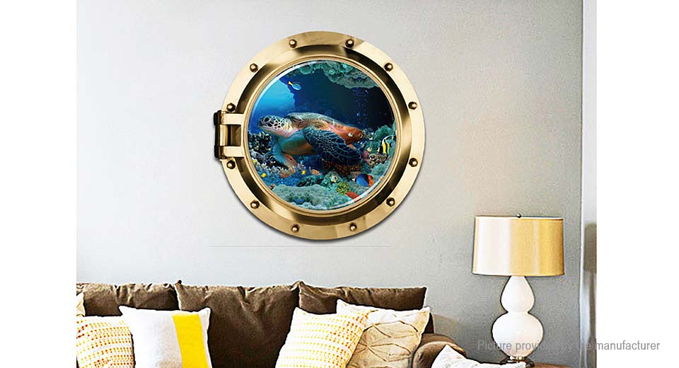 3D Sea Turtle Styled Removable Wall Sticker Home Decor