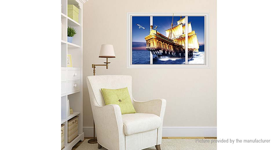 3D Sailing Styled Removable Wall Sticker Home Decor