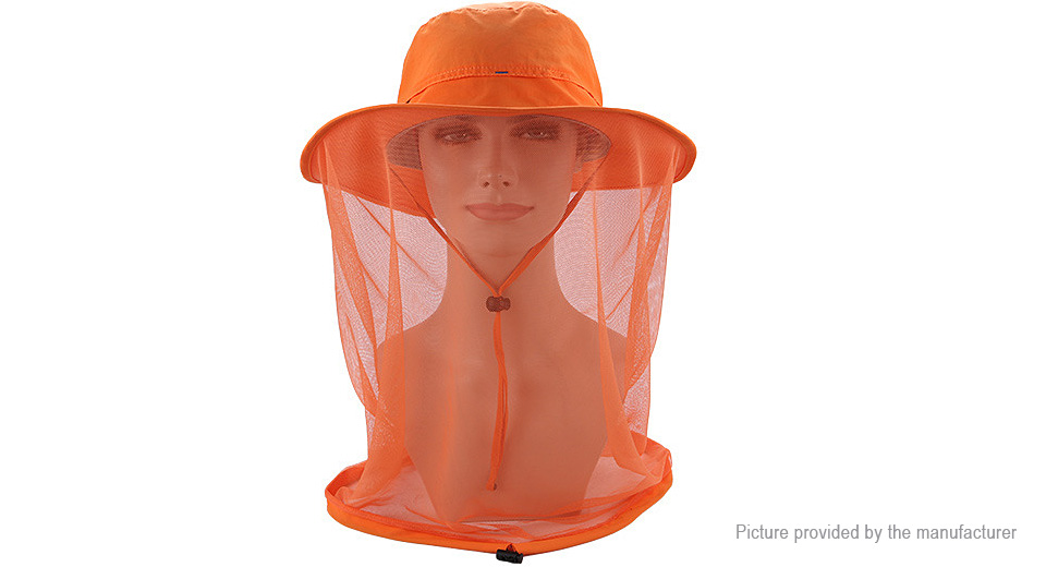 Image of Anti-mosquito Mesh Face Hat Midge Insect Bucket Fishing Cap