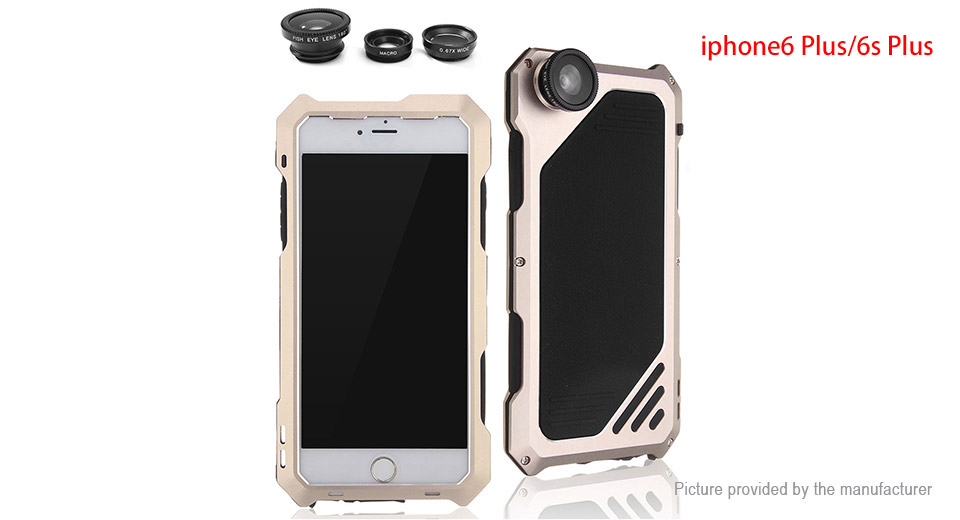 4-in-1 Waterproof Case Clip-On Camera Lens Kit for iPhone 6s Plus/6 Plus