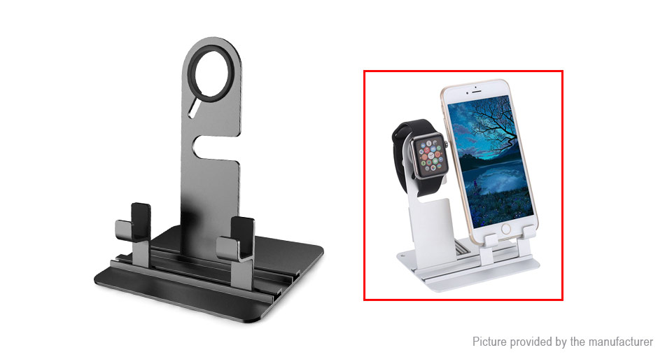 Aluminum Alloy Charging Dock Stand Holder for Cell Phones / Tablets / Smart Watches