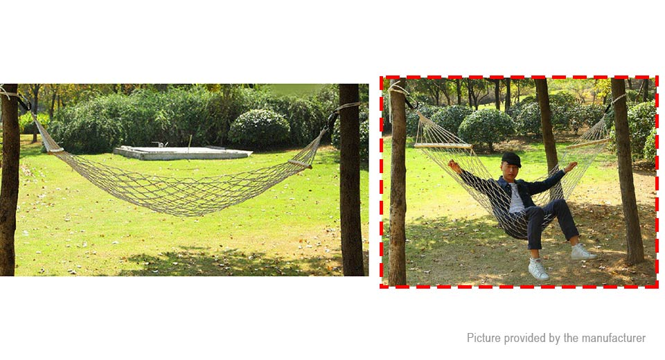 Authentic AOTU AT6720 Portable Outdoor Camping Single Person Cotton Mesh Hammock Swing Bed
