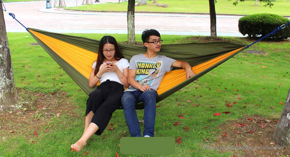 Authentic AOTU AT6737 Portable Parachute Nylon Hammock Double Swing Bed