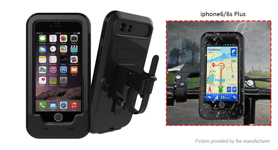 Image of Bicycle Handlebar Mount Full-Body Protective Case Cover for iPhone 6s Plus/6 Plus