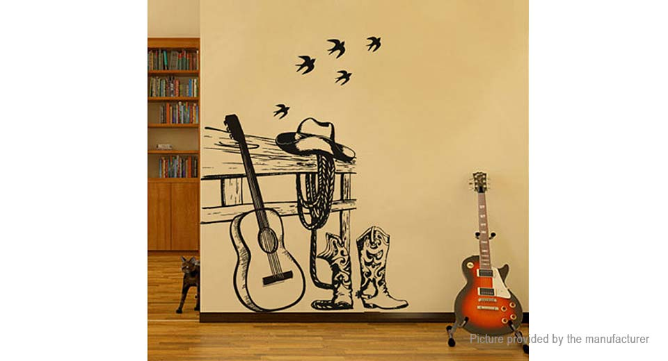 Guitar Styled Removable Wall Sticker ...