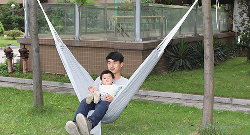 Authentic AOTU AT6716 2-Person Parachute Nylon Fabric Hammock Swing Bed