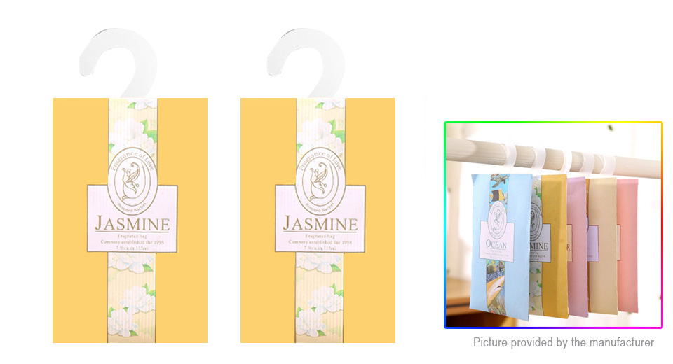 Home Drawers Closets Cupboards Hanging Scented Sachet (Jasmine / 2- Pack)