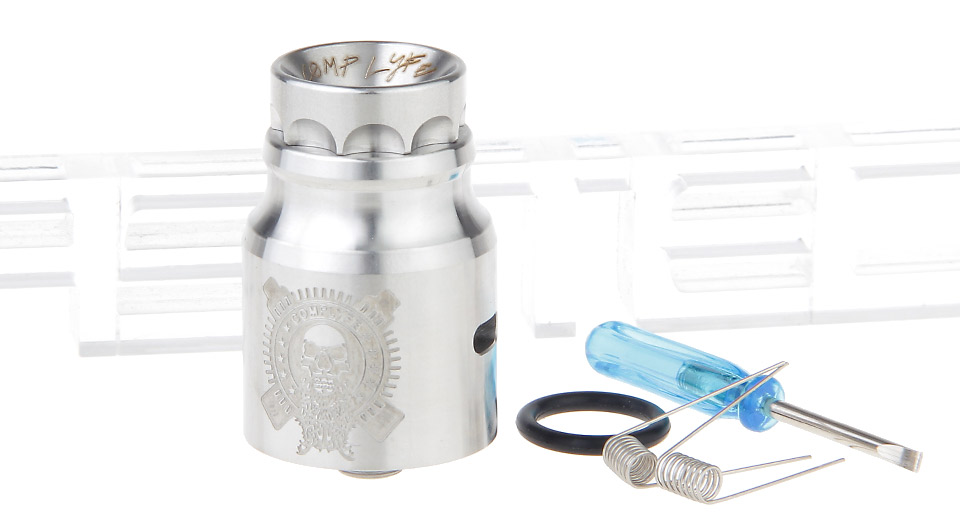 Complyfe Battle Styled RDA Rebuildable Dripping Atomizer 24mm, SS, Silver