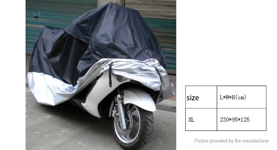 Motorcycle Street Bike Waterproof Protective Rain Cover (Size XL)