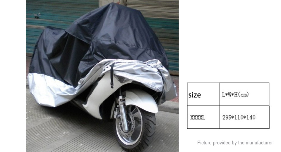 Motorcycle Street Bike Waterproof Protective Rain Cover (Size 4XL)
