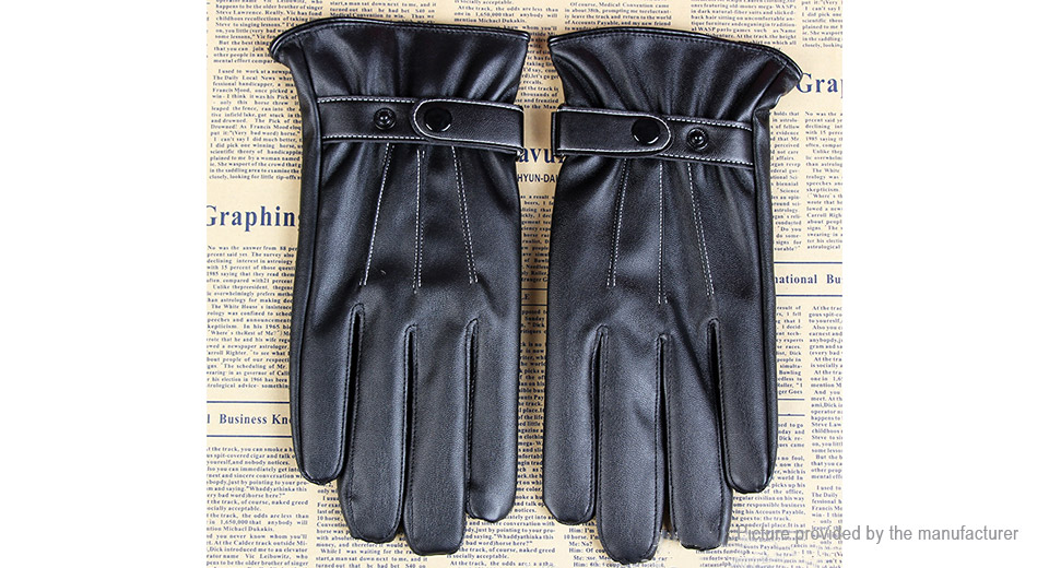 Winter Motorcycle Mens Driving Warm Touch Screen Gloves (Pair)