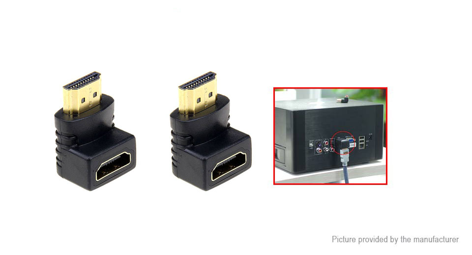 HDMI to HDMI Converter Adapter (2-Pack)