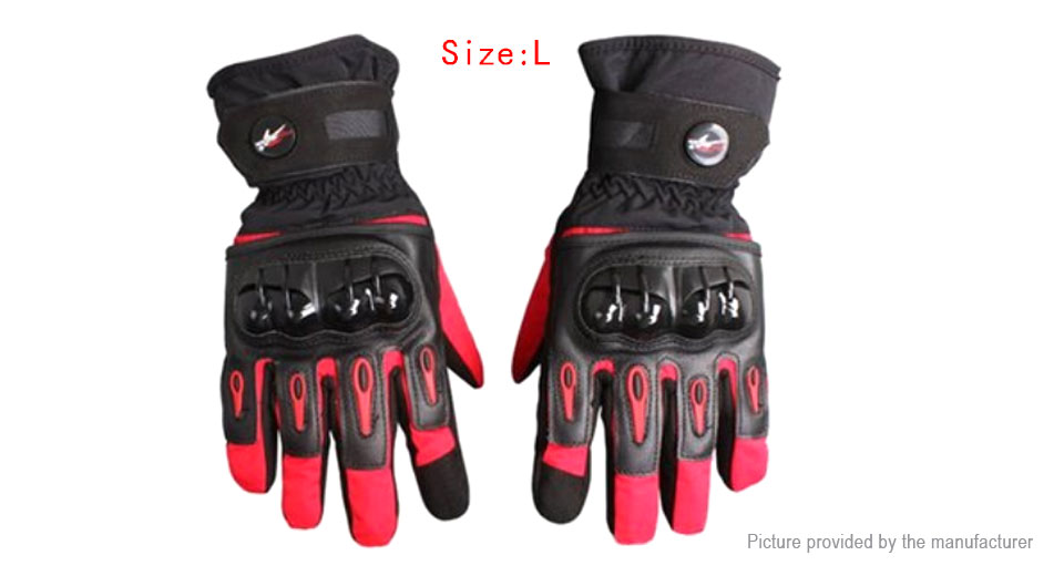 PRO-BIKER MTV-08 Motorcycle Racing Full-Finger Warm Gloves (Size L/Pair)