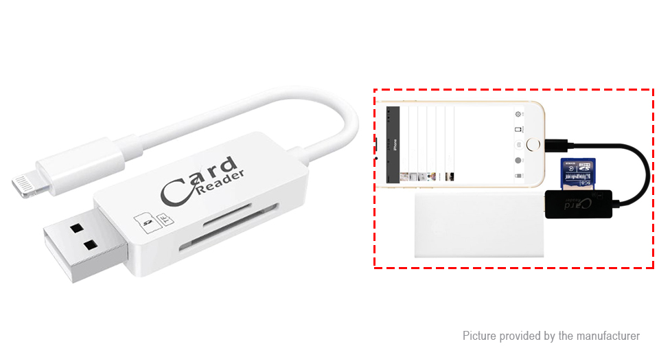 iDragon RC002 8-pin to USB 2.0 microSD/SD Card Reader