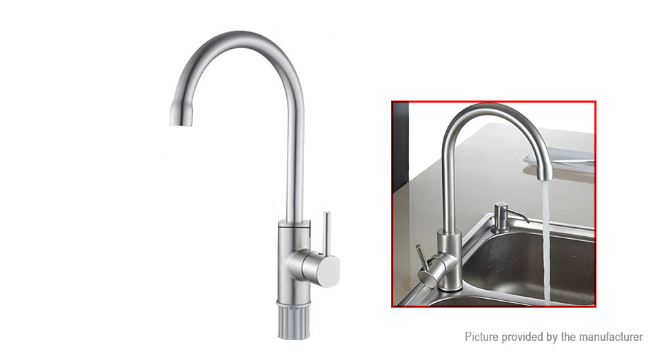 Frap F4052 Hot & Cold Water Swivel Kitchen / Basin Faucet Mixer Tap F4052, Silver