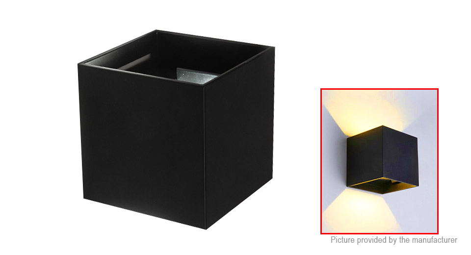 Indoor Outdoor Wall Mount LED Sconce Light Cube Lamp