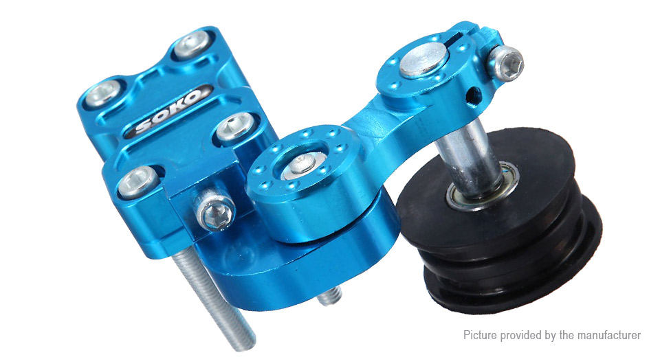 Universal Chain Tensioner Tool Roller Aluminum Adjuster for Motorcycle, Blue