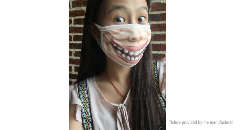 Image of Funny 3D Expression Face Mouth Mask Respirator