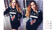 Buy Women's Eagle Flower Pattern Print Long Sleeve Casual Bodycon Dress (Size S) Black, Size S for $12.41 in Fasttech store
