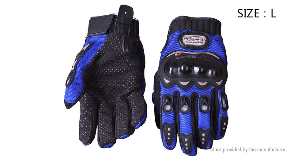 PRO-BIKER MCS-01B Full Finger Motorcycle Skiing Racing Gloves (Pair/Size L)
