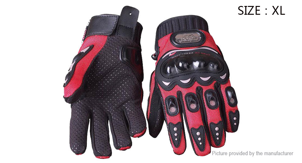 PRO-BIKER MCS-01B Full Finger Motorcycle Skiing Racing Gloves (Pair/Size XL)