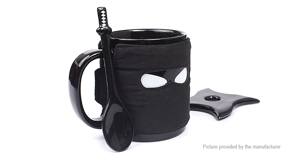 Cool Ninja Styled Ceramic Tea Coffee Drink Mug