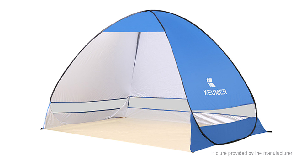 KEUMER Portable Outdoor Camping Hiking Automatic Pop up Instant Cabana Beach Tent