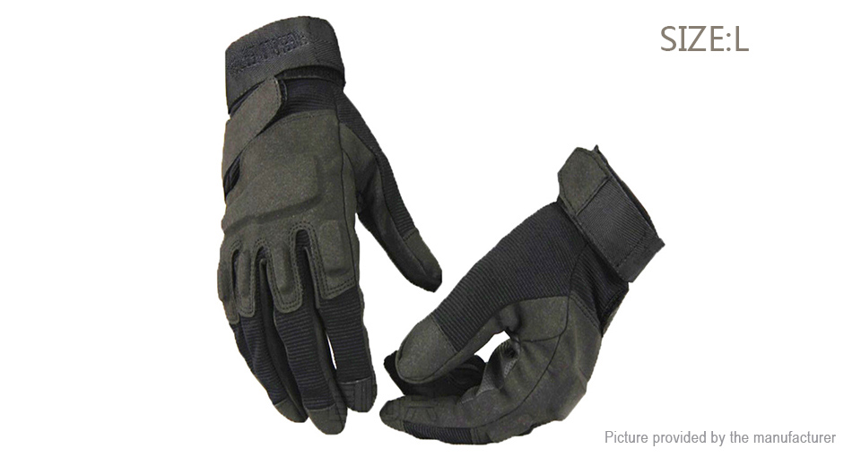 Blackhawk Outdoor Motorcycle Tactical Full Finger Gloves (Size L)