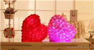 Buy LED Light Up Rose Heart Shaped Plush Throw Pillow Festival Birthday Gift, Pink Rose Heart Shaped (LED Light), Pink for $12.29 in Fasttech store