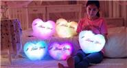 "Buy LED Light Up Music Heart Shaped Plush Throw Pillow Festival Birthday Gift, Pink ""I LOVE YOU"" Heart Shaped (Light+Music), Pink for $11.08 in Fasttech store"