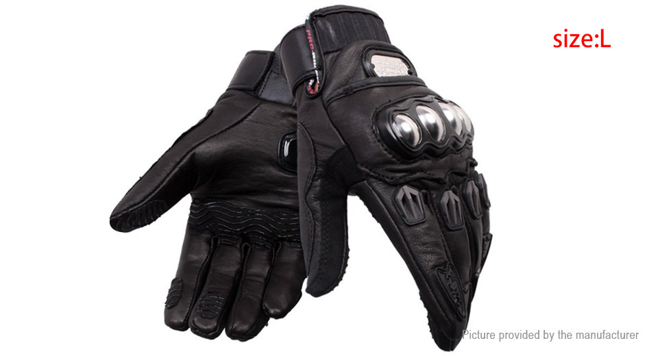PRO-BIKER MCS-06 Motorcycle Racing Leather Full-Finger Gloves (Size L/Pair)