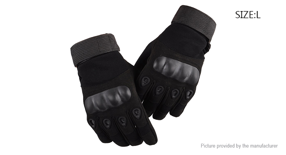 Tactical Military Motorcycle Bicycle Airsoft Hunting Full Finger Gloves (Size L/Pair)