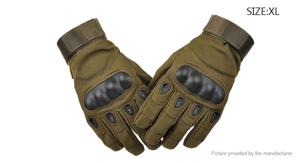 Tactical Military Motorcycle Bicycle Airsoft Hunting Full Finger Gloves (Size XL/Pair)