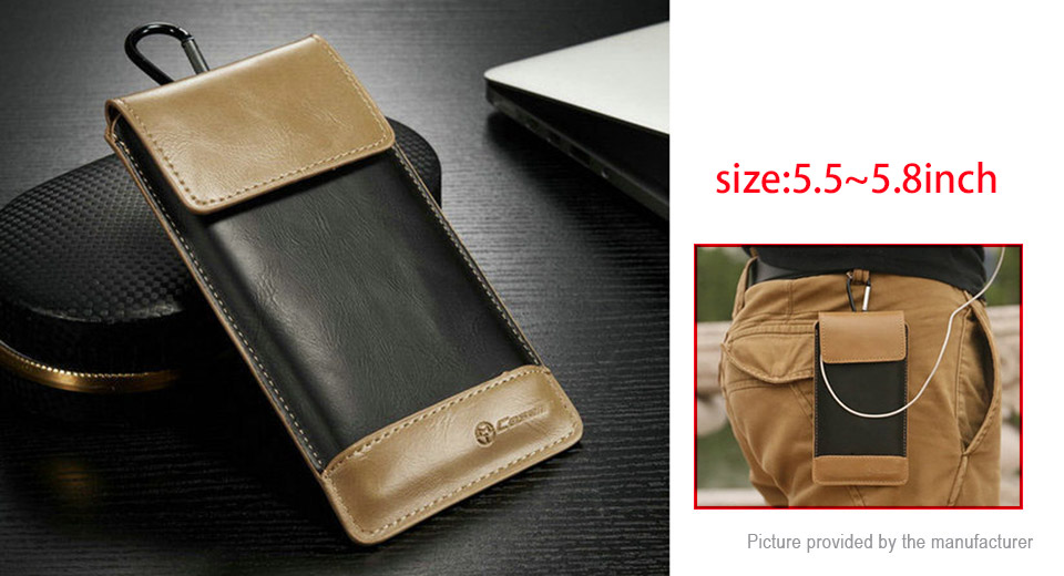 CaseMe Wallet Case Retro PU Leather Protective Bag for 5.5-5.8 Cell Phone