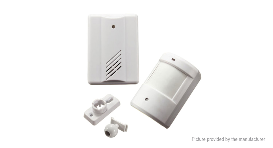 Infrared Wireless Doorbell Alarm System Motion Sensor w/ Receiver