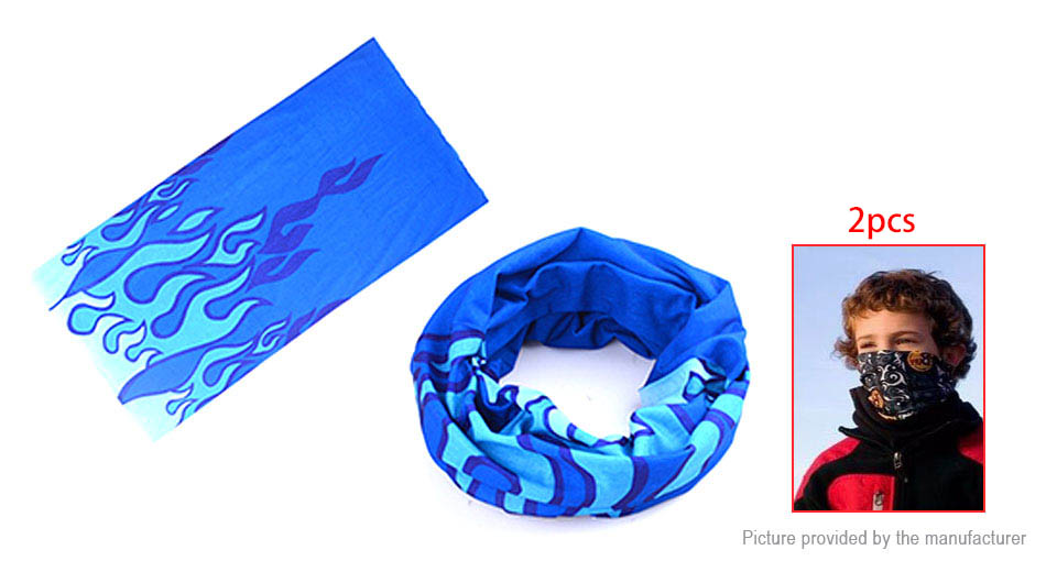 Image of Sports Bike Cycling Riding Headband Scarf Warmer Headwear Bandanas (2-Pack)