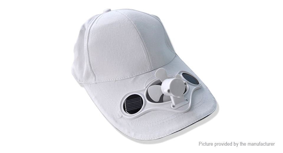 Image of Summer Outdoor Sports Baseball Cap Sun Hat w/ Solar Powered Cooling Fan