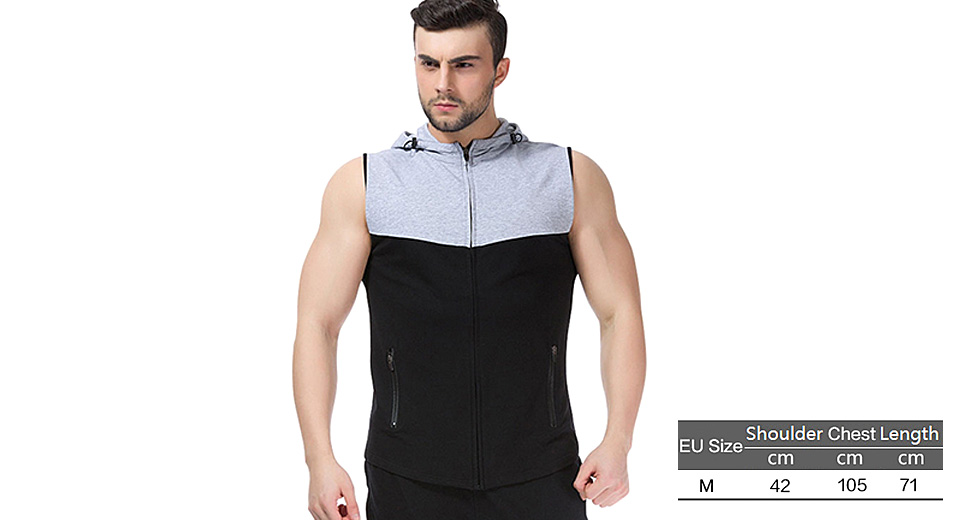 Product Image: men-s-color-block-hooded-zip-up-athletic-gym