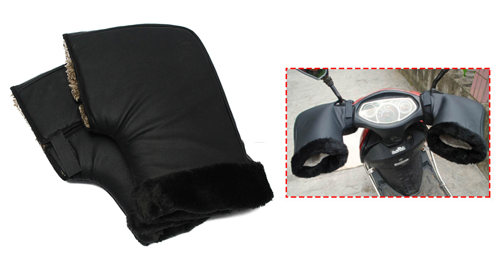 Winter Warm Motorcycle Handle Bar Protective Windproof Gloves (Pair)