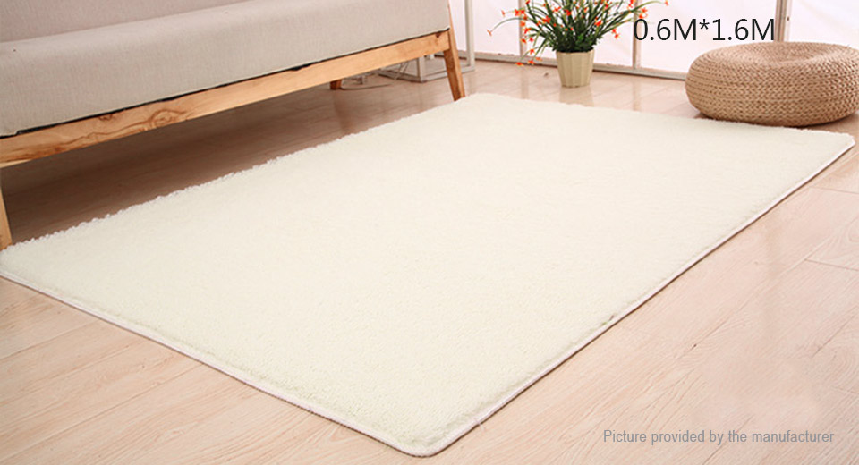 Super Soft Anti-Skid Thicken Plush Carpet Floor Mat Rug (60*160cm) Rectangle, 60*160cm, White