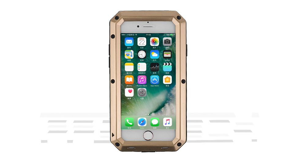 Image of 3-in-1 Protective Case + Frame Protector + Tempered Glass Screen Protector for iPhone 7