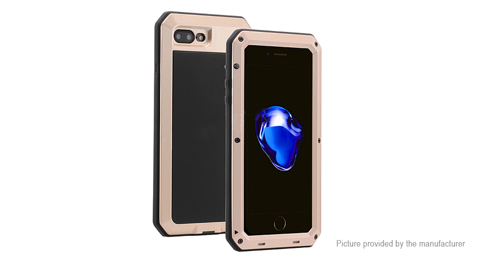 Image of 3-in-1 Protective Case + Frame Protector + Tempered Glass Screen Protector for iPhone 7 Plus
